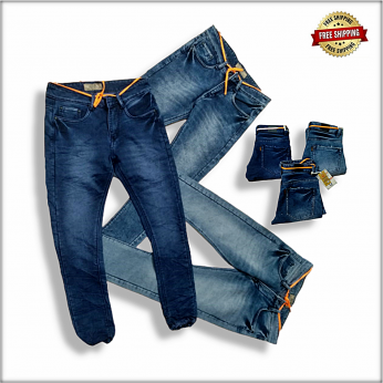 Men Repeat Patch Jeans