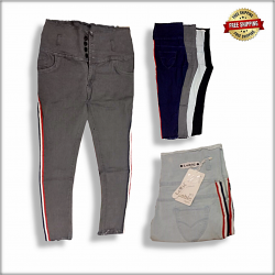 Wholesale Side Tape Jeans For Women LB-0008