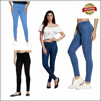 Women Denim Jeggings 4 Colour Set LB-0009