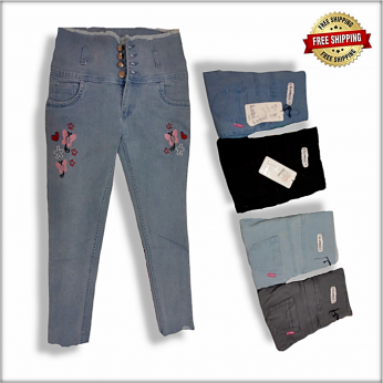 Wholesale Side Tape Jeans For Women
