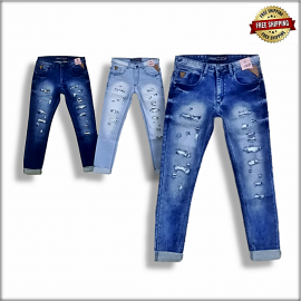 Damage Men's jeans 3 Colour Set