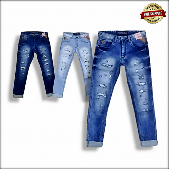Men Damage jeans 3 Colour Set