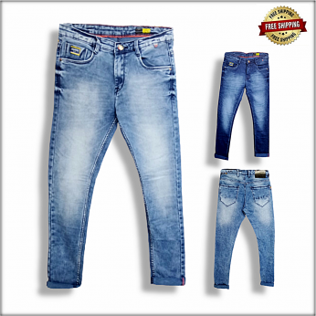 Men Blue Slim Fit Mid-Rise Clean Look Jeans DS104
