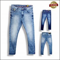 Men Blue Slim Fit Mid-Rise Clean Look Jeans DS104