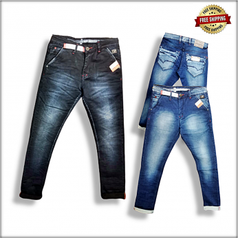 Men Blue Jeans 2 Colour Set