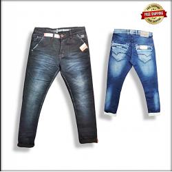 Men Blue Jeans 2 Colours Set.