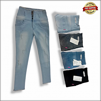 Ladies Skinny high waist Repeat jeans LB-0013