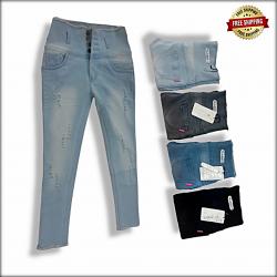 Ladies Skinny high waist Repeat jeans LB-0013
