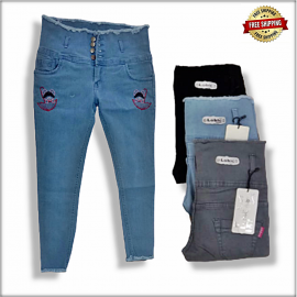 Women Embroidered Jeans