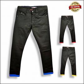 Men Regular Fit Black Jeans DS-106