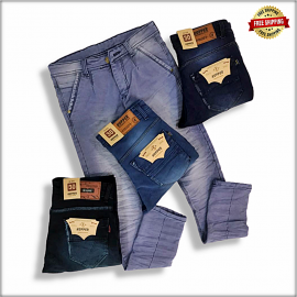 Men Narrow Fit Jeans 4 Colour Set CG200