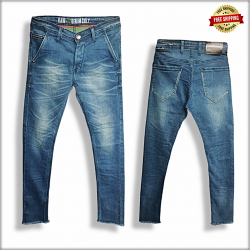 Men White Skinny Fit Stretchable Jeans
