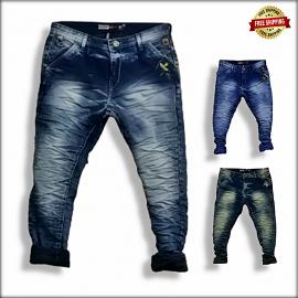 Men Wrinkle Stylish Jeans