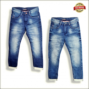 Men Blue Slim Fit Clean Look Jeans