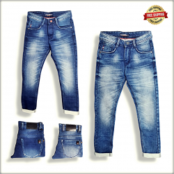 Men Blue Slim Fit Mid-Rise Clean Look Jeans