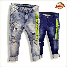 Funky Patch Mens Denim Jeans