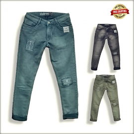 Mens Funky Patch Jeans
