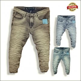 Stylish Wrinkle Stylish Men Jeans