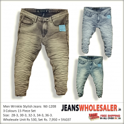 Stylish Wrinkle Stylish Men Jeans