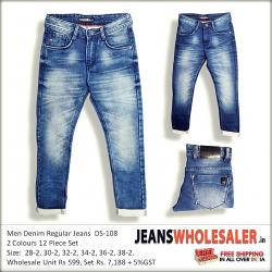 Men Blue Slim Fit Clean Look Jeans