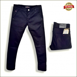 Mens Black Polo Fit Jeans
