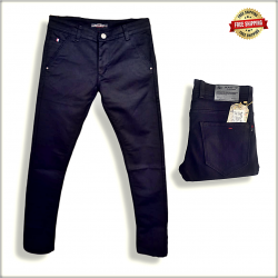 Mens Black Polo Fit Jeans DS112