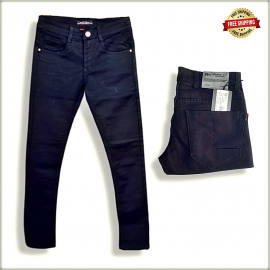 Black Narrow Fit Mens Jeans