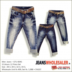 Men Regular Fit Denim Jeans