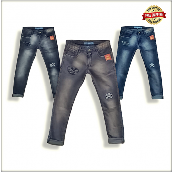 Men's Jeans With Patches WJ1210