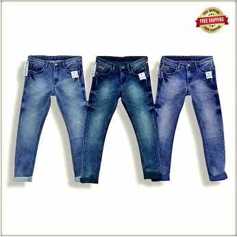 Men Blue Regular Stretchable Jeans