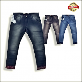 Regular Stretchable Blue Men Jeans