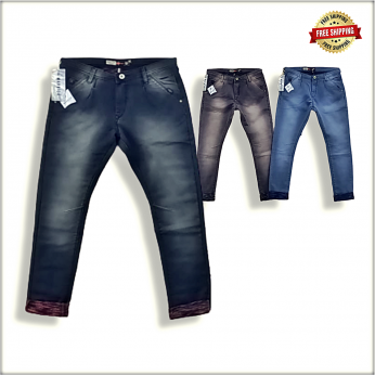Men Regular Stretchable Blue Jeans