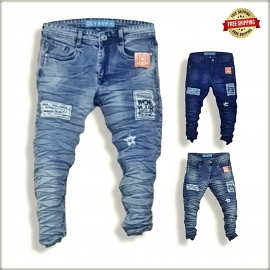 Men's Jeans With Patches