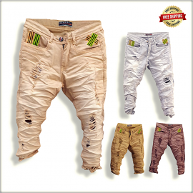 Men's Damage funky jeans Wholesale Price GTU0048