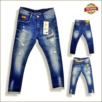 Men's Damage Printed Jeans B2B DS1785
