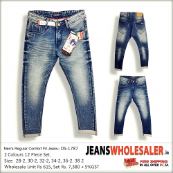 Men's Regular Comfort Fit Jeans