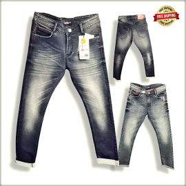 Men Regular Printed Denim Jeans