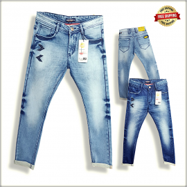 Men's Embroidered Denim Jeans