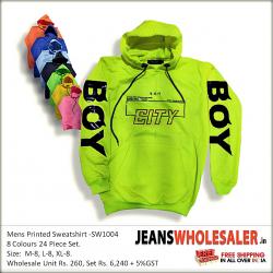 Printed Hooded Sweatshirt For Men's