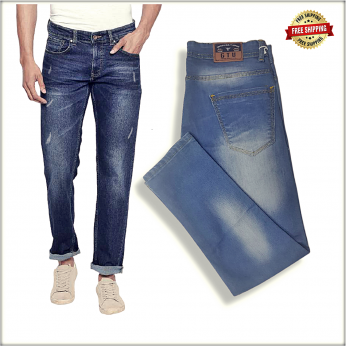 Men's Scratch Denim Jeans GTU-0036