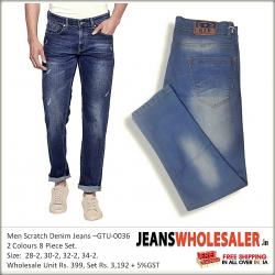 Men's Scratch Denim Jeans GTU-0036