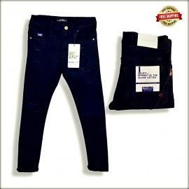 Black Patch Jeans Mens DS1856