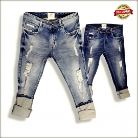 Men's Regular Fit Damage Jeans