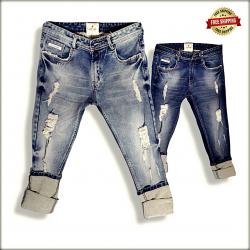 Men's Scratch Denim Jeans