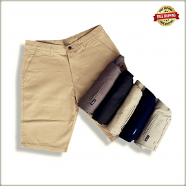 Men Solid Slim Fit Chino Shorts LVS103