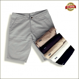 Men Solid Slim Fit Chino Shorts