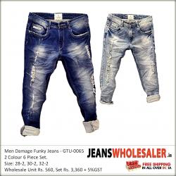 Men Damage Funky Jeans