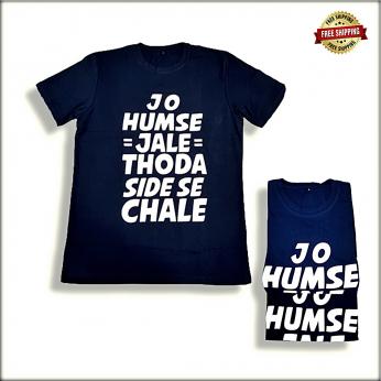 Men Printed Round Neck T-shirt JS101