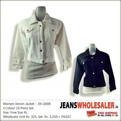 Women Dusty Solid Denim Jacket