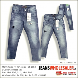 Mens Ankle Damage jeans